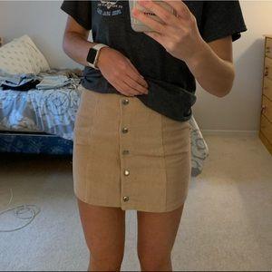 forever 21 tan skirt